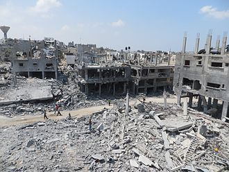 Gaza Strip - Gaza, August 2014 after Israeli bombardments