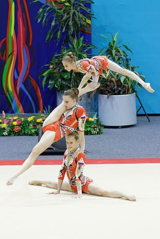 2014 Acrobatic Gymnastics World Championships - Women's group - Finals - Russia 03.jpg