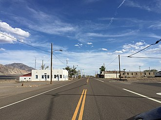 Mina, Nevada - View south along US 95 in Mina