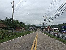 2016-05-19 08 41 27 View north along Craig Street (Virginia State Route 42) near Cherry Street in Craigsville, Augusta County, Virginia.jpg