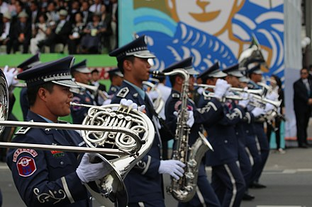 The Republic of China's Air Force Band is one of several bands in the Republic of China Armed Forces. 2016-05-20 Zhong Hua Min Guo Kong Jun Le Dui Zou Le .jpg