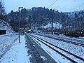 2018-02-09 (102) Waiting of NÖVOG ET1–ET9 at the early morning at Bahnhof Schwarzenbach an der Pielach without light at platform.jpg