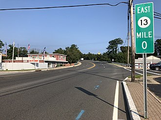 Point Pleasant, New Jersey - Route 13 eastbound in Point Pleasant