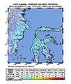 2018-09-28 Palu, Indonesia M6.1 earthquake shakemap (USGS).jpg
