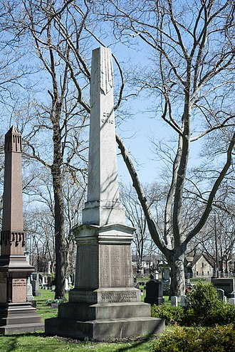Woodland Cemetery (Cleveland) - The 23rd Ohio Volunteer Infantry Regiment Memorial, erected in 1865.