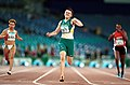 301000 - Athletics track 100m Lisa McIntosh action - 3b - 2000 Sydney race photo.jpg