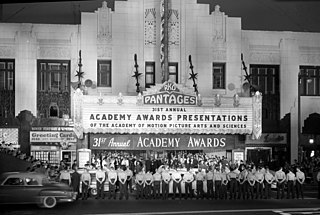 31st Academy Awards Award ceremony presented by the Academy of Motion Picture Arts & Sciences for achievement in filmmaking in 1958