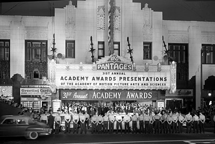 31st Academy Awards Presentations,Pantages Theatre, Hollywood, 1959