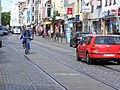 401 tramline+cars+cycling Steintor Bremen.JPG