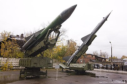 5P72&SM-90 launchers of S-200&S-75 SAMs in Perm.jpg