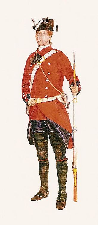 King's Royal Rifle Corps - Soldier of the 60th Royal American Regiment in 1758