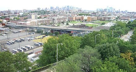 The 14th Street and Wing Viaducts connect Hoboken, Jersey City Heights and North Hudson. 8.8.09ViaductCompByLuigiNovi.jpg