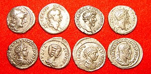 Financial crisis - The Roman denarius was debased over time.