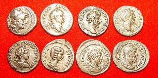 ancient coin of the Roman Republic and Empire
