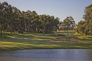Lake Karrinyup Country Club - The signature 8th hole from the tee
