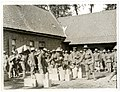 9th Gurkhas drawing rations at a French farm house St Floris, France (Photo 24-57).jpg