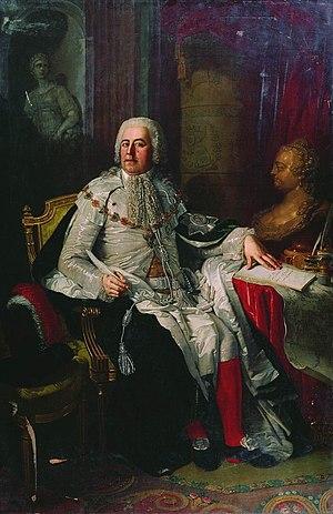 Alexander Rumyantsev - A posthumous portrait by Vladimir Borovikovsky