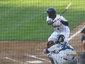 Abraham Almonte - Almonte batting for the Tacoma Rainers