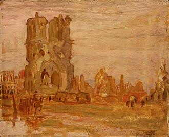 A. Y. Jackson - Image: A. Y. Jackson Cathedral at Ypres, Belgium