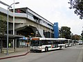 AC Transit buses and San Leandro station, April 2018.JPG