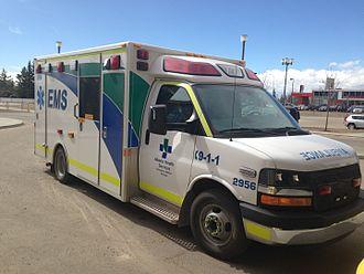 Paramedics in Canada - Alberta Health Services-EMS 2015 ambulance