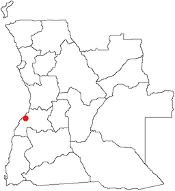Benguelas beliggenhed i Angola.