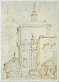 A Magnificent Pavilion by the Lagoon (recto); The Grand Canal, with the Rialto Bridge from the South (verso) MET DT3166.jpg