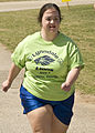 A Special Olympic athlete competes in a race, during the Special Olympics events, on Fort Gordon, Ga., Mar. 24 2010. Special Olympic athletes and local volunteers participated in the events 100324-A-NF756-017.jpg