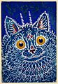 "A cat in ""gothic"" style. Gouache by Louis Wain, 1925-1939. Wellcome L0026931.jpg"