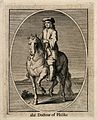 A doctor on horseback. Engraving. Wellcome V0010917.jpg