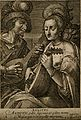 A man and a woman play stringed instruments; a stag looks on Wellcome V0007700.jpg