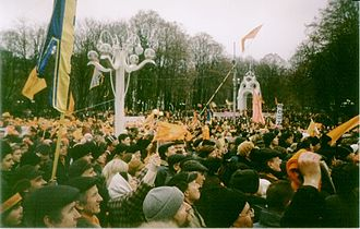 Human rights in Ukraine - Meeting in Kharkiv during the 2004 Orange Revolution