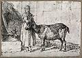 A peasant woman tending a goat. Etching. Wellcome V0022941.jpg