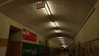 Northern Secondary School (Toronto) - A vaulted hallway ceiling