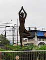 A woman doing Yoga - A statue in Prayagraj.jpg