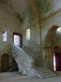 Abbaye de Fontenay escalier entre église et dortoir.png