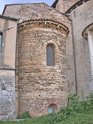 Abbey of Sant'Antimo - Apse of the Carolingian Chapel.