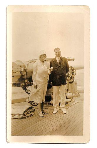 Presidency of Herbert Hoover - President-elect Hoover and his wife aboard the USS Utah in South America, December, 1928.
