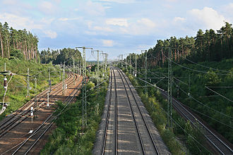 Branch line - Railway connection between the new Nuremberg–Munich high-speed railway and Germany's historical rail network.