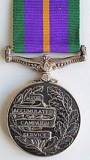 Accumulated Campaign Service Medal Award
