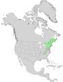 Acer pensylvanicum USGS range map.png