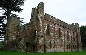 Grade I listed buildings in Shropshire - Image: Acton Burnell Castlec