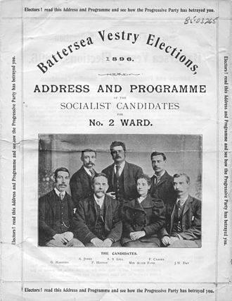 Social Democratic Federation - SDF election leaflet, 1896