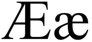Æ Letter of the Latin alphabet