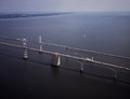 Aerial view of the Chesapeake Bay Bridge, connecting Annapolis with Maryland's Eastern Shore LCCN2011635458.tif