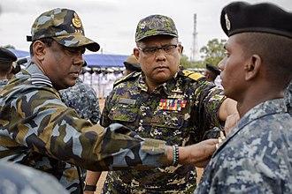 Commander of the Air Force (Sri Lanka) - Image: Air Force Chief Marshall Kapila Jayampathy and Rear Adm. Dharmendra Wettewa