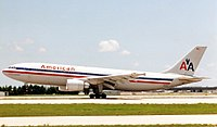 Accident aircraft at Miami International Airport in 1989