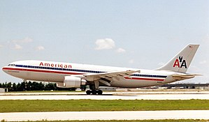 American Airlines Flight 587 - N14053, the aircraft involved in the accident, at Miami International Airport in 1989.