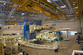Airbus A350 XWB - A partially-complete A350-941, destined for Finnair, on the Toulouse assembly line, December 2014