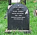 Alan Coren's Grave, Hampstead Cemetery - London. (15699842447).jpg